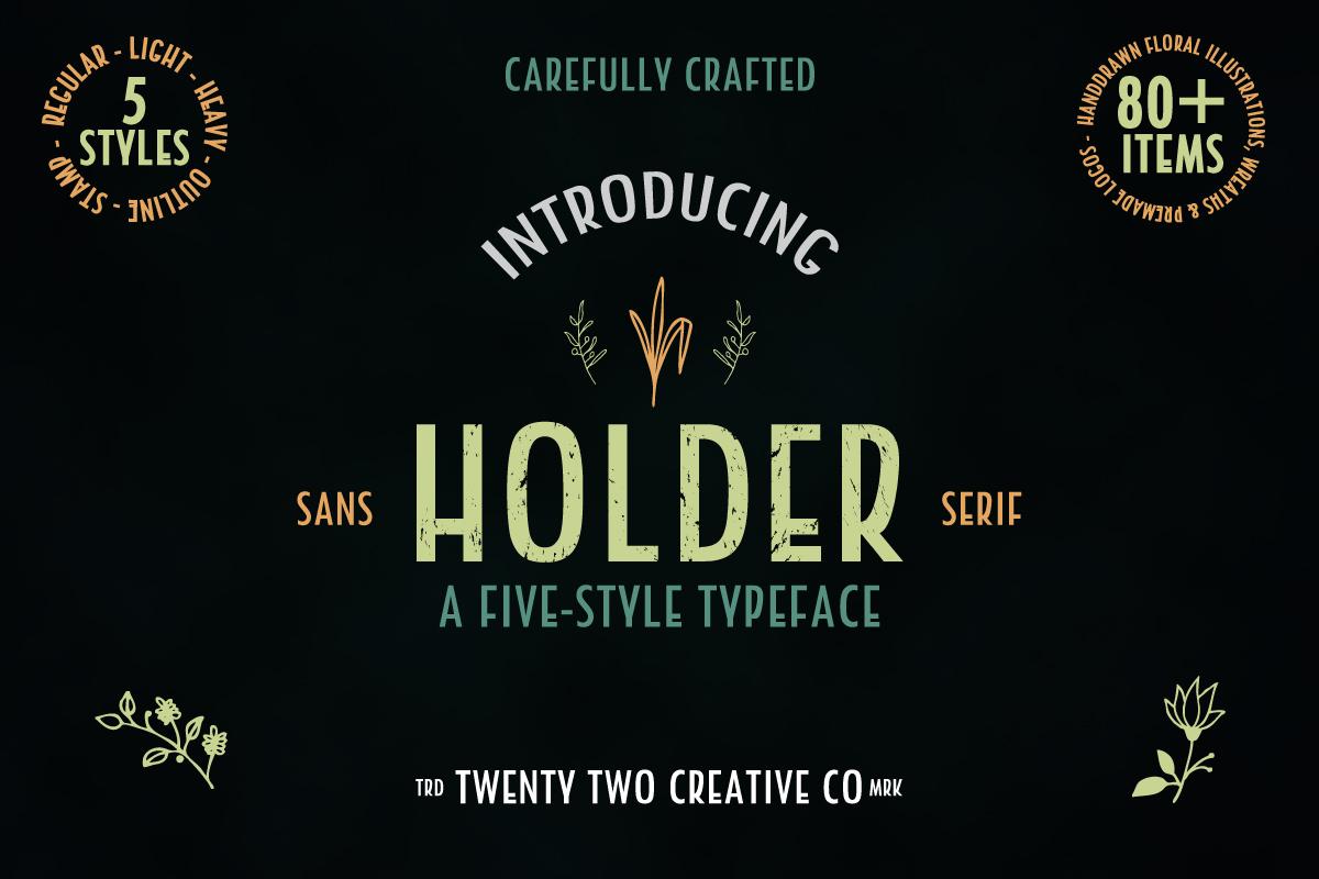 Holder Sans Font Family example image 1