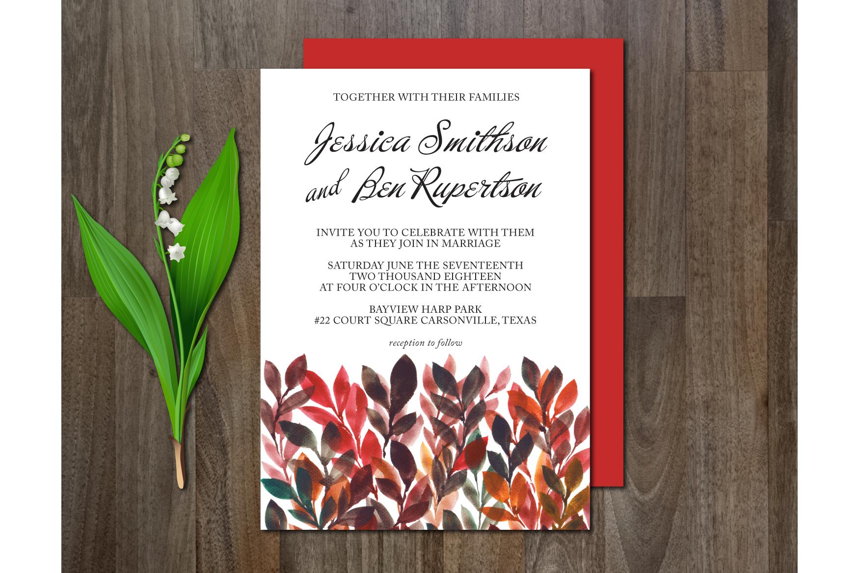 Watercolor Flower Wedding Suite example image 2