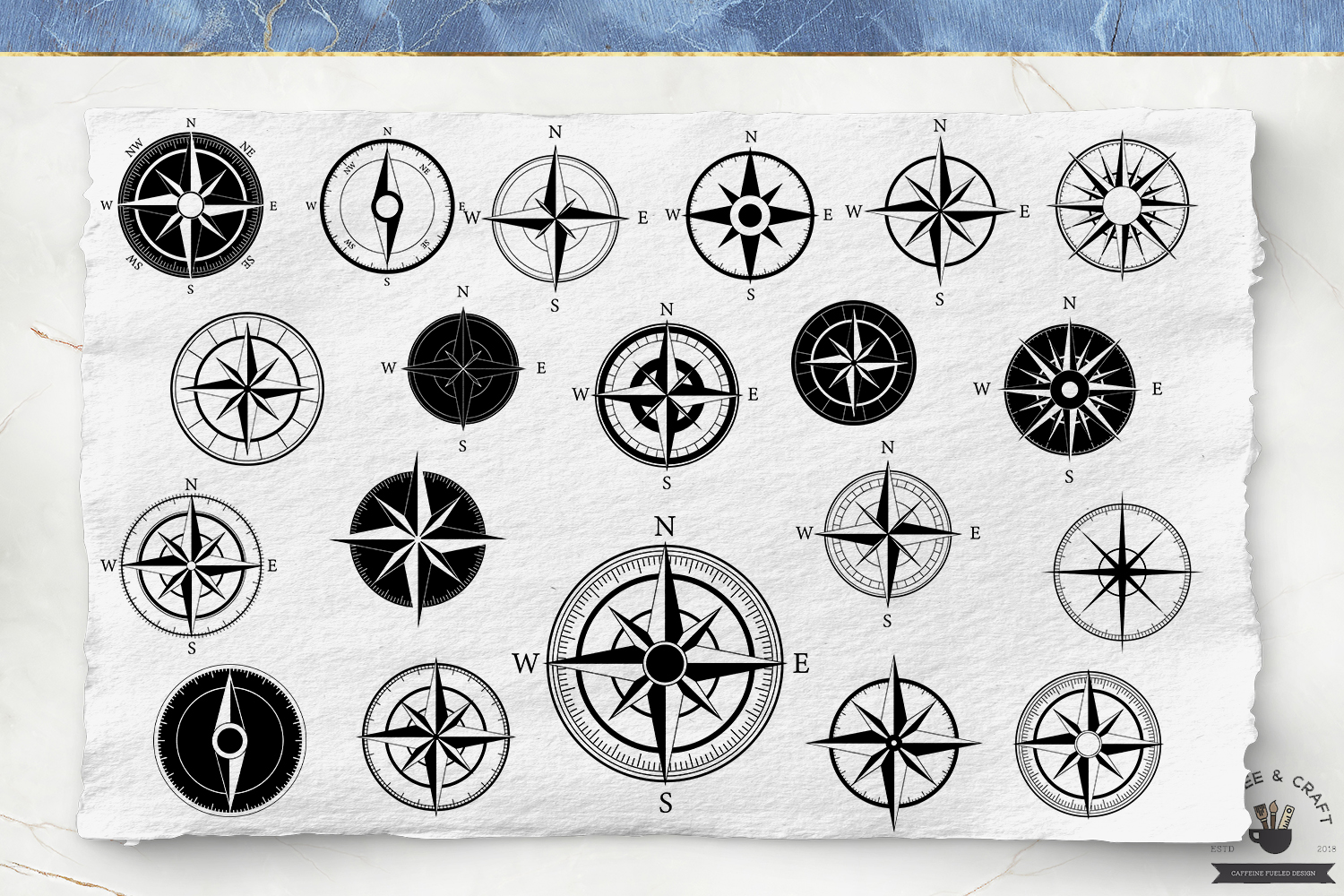 Compass Silhouettes example image 2