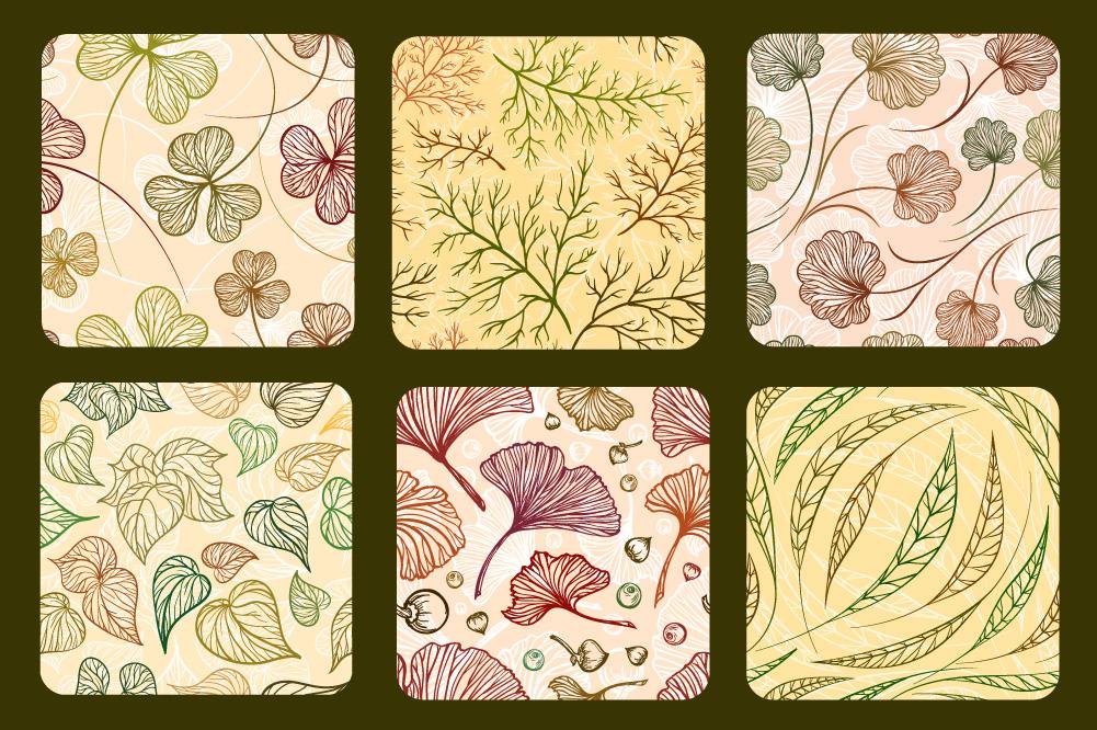 Herbal patterns set example image 3