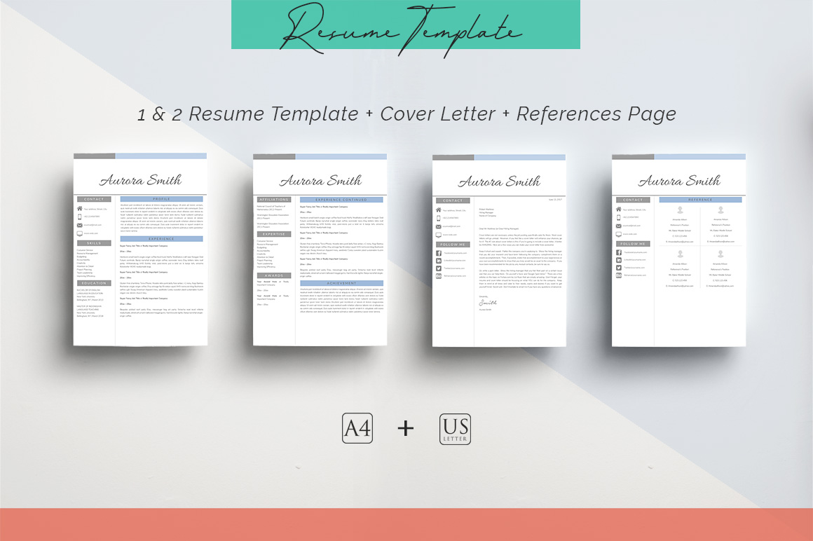 ULTIMATE BUNDLE Resume Template 10 in 1 example image 2
