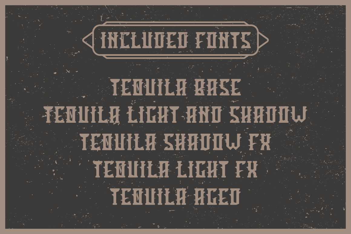 Tequila label font example image 4