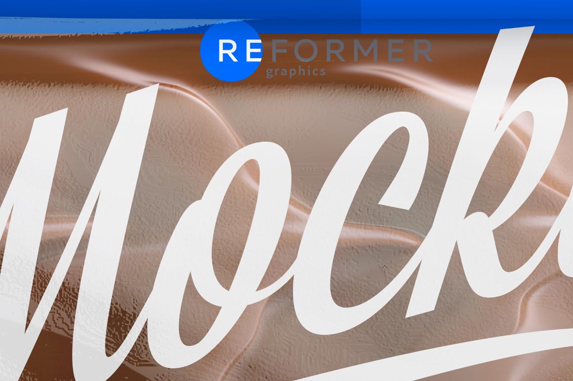 Transparent Chocolate Bar Mockup 50g example image 5