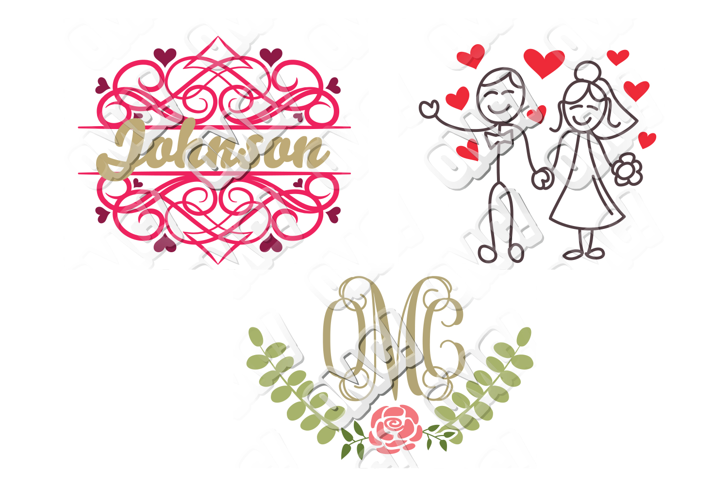Wedding SVG Bundle example image 5
