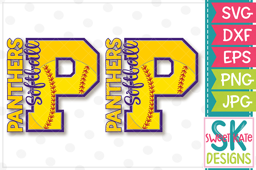 P Panthers Softball SVG DXF EPS PNG JPG example image 5