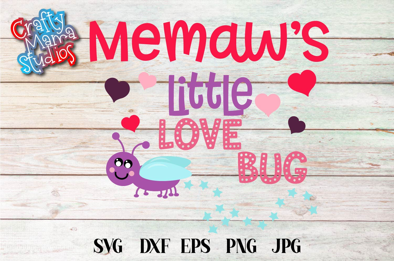 Valentine's Day SVG Little Love Bug, Memaw's Love Bug SVG example image 2