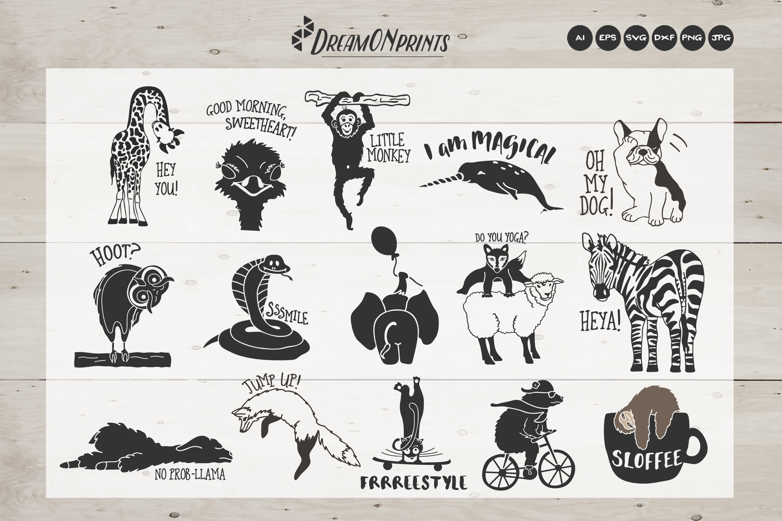 The Quirky Animals | Funny SVG Bundle example image 2