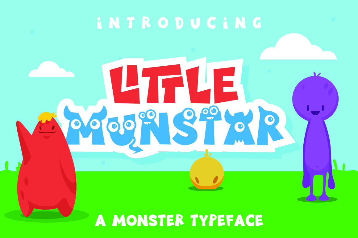 Little Munstar - A Monster Font example 1