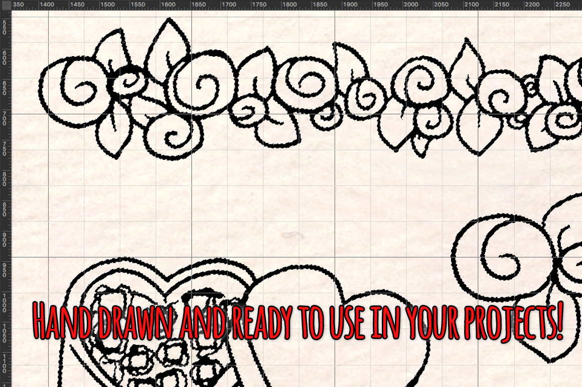 Valentine's Day 56 Romantic Sketch Graphics example image 3