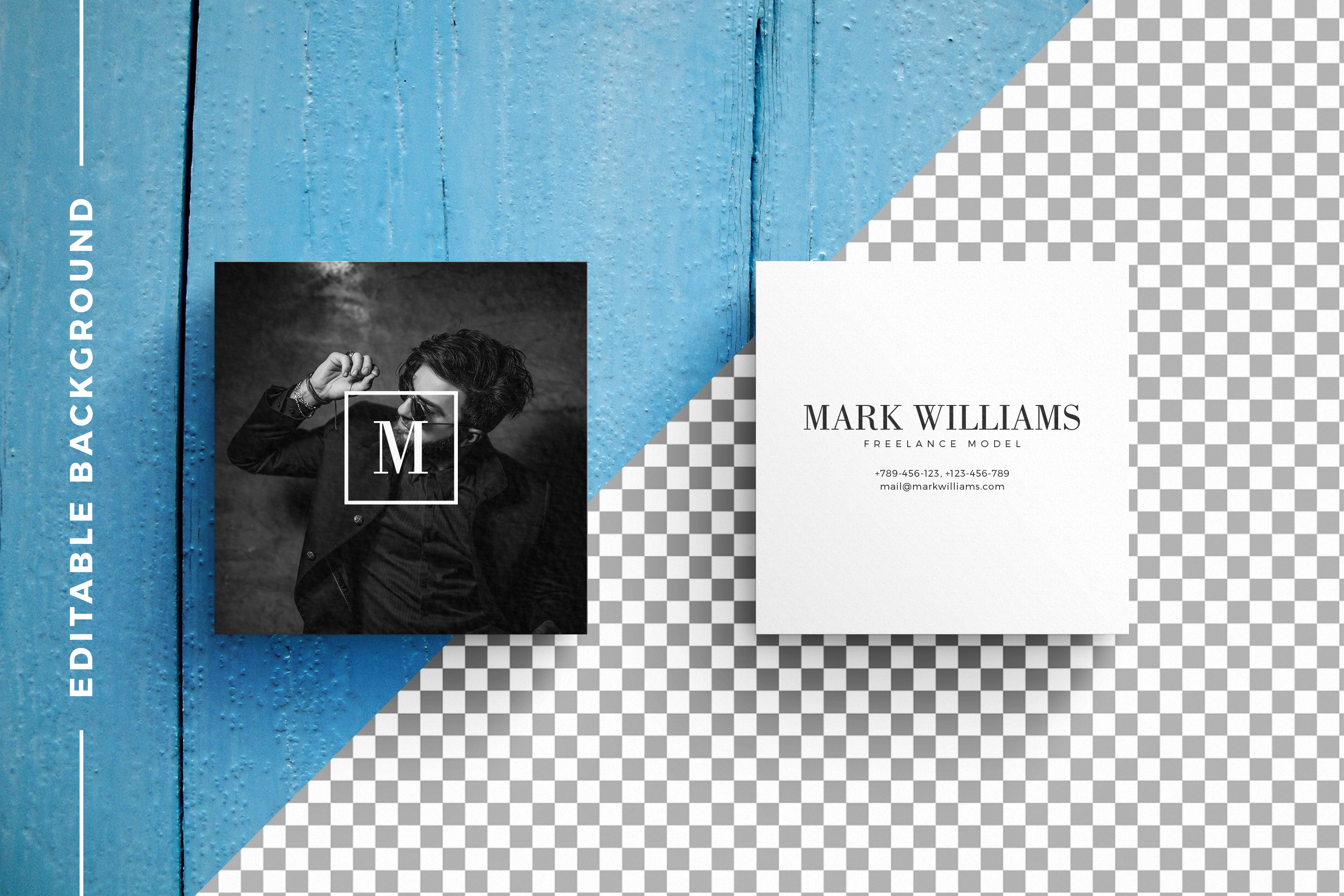 Business Card MockUps with Templates example image 2