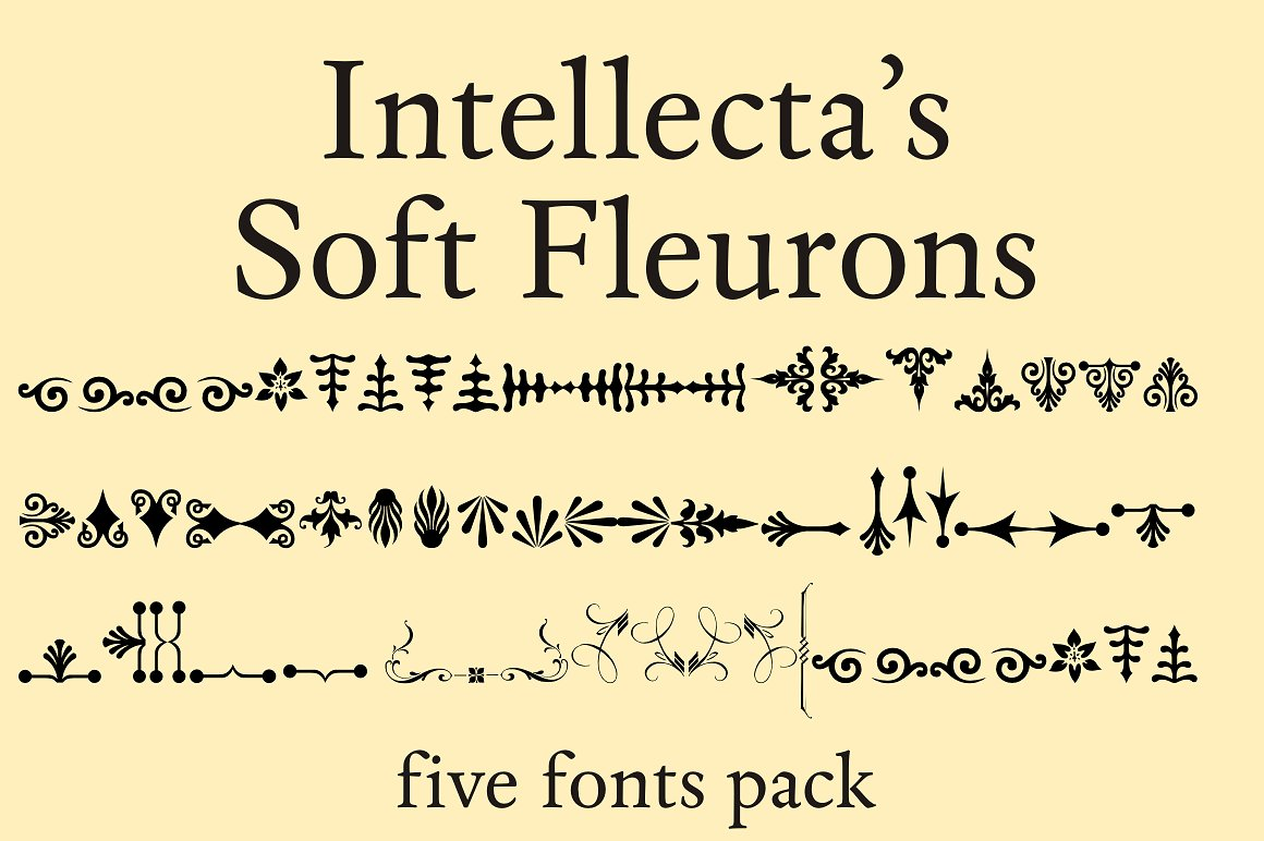 Soft Fleurons Pack - five fonts example image 2