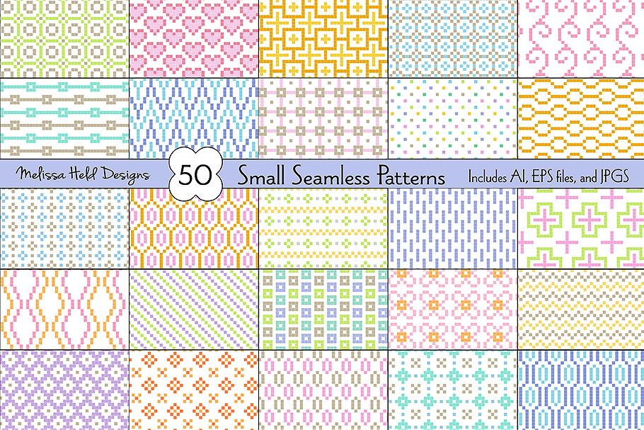 Small Seamless Geometric Patterns example image 1