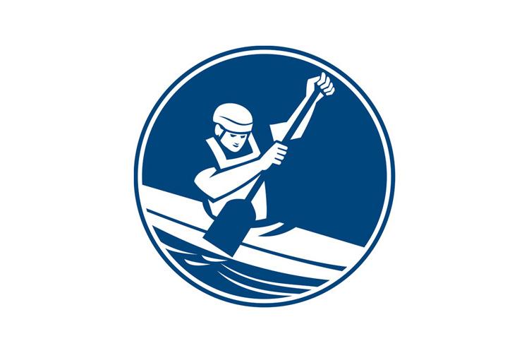 Canoe Slalom Circle Icon example image 1