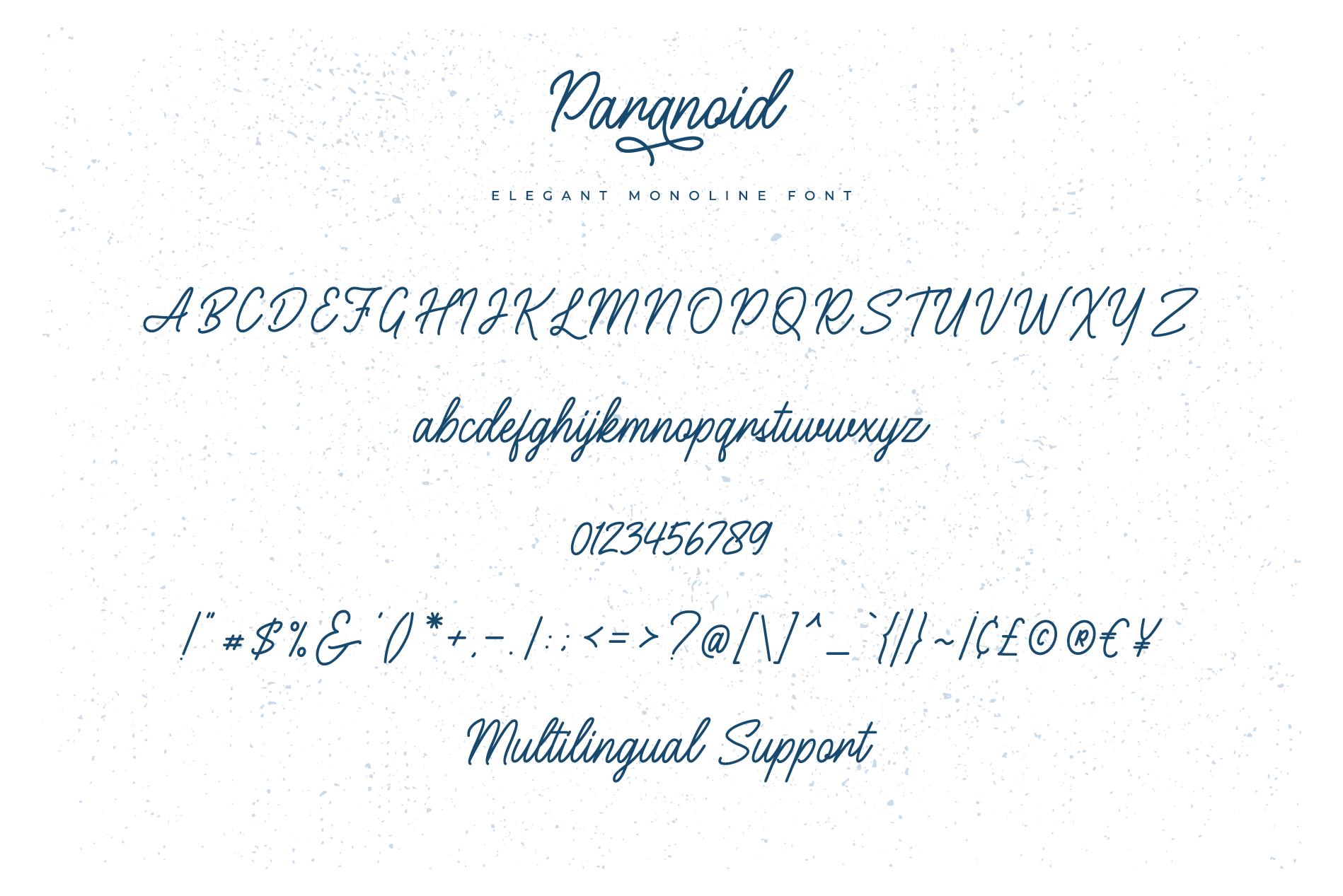Paranoid - Elegant Monoline Font example image 8