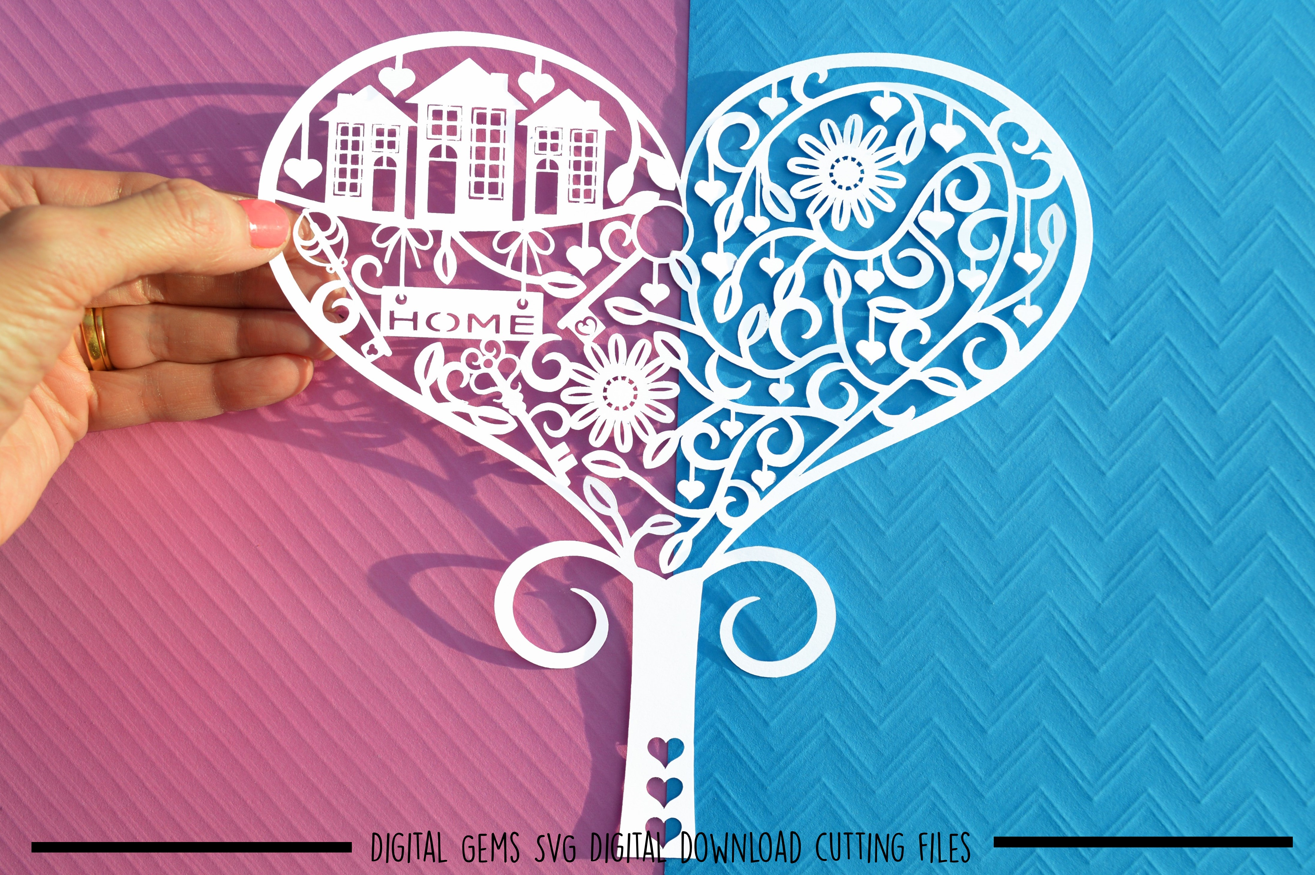 Tree paper cut SVG / DXF / EPS files example image 3
