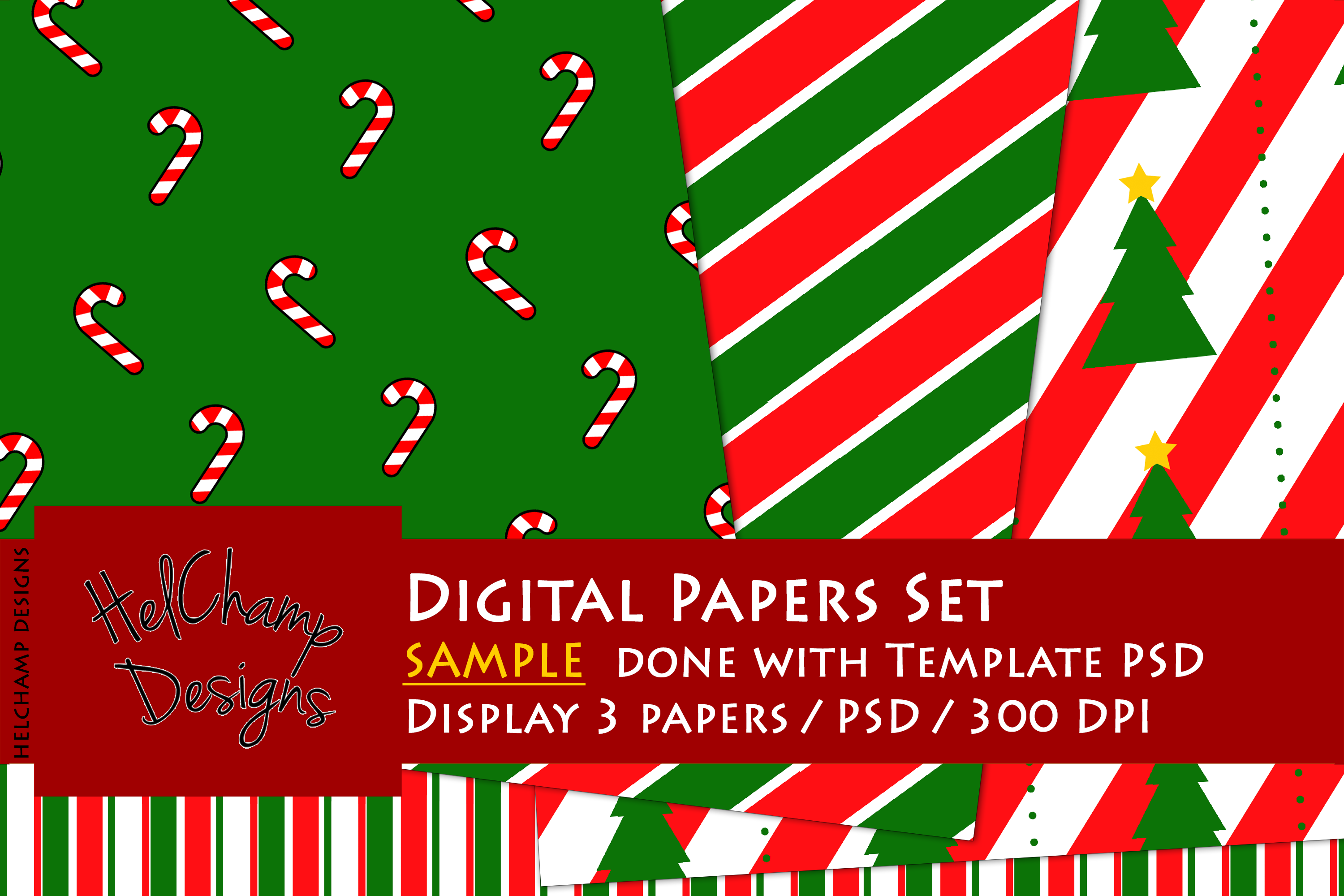 3 Panels Mockup for Digital Papers - M05 example image 4