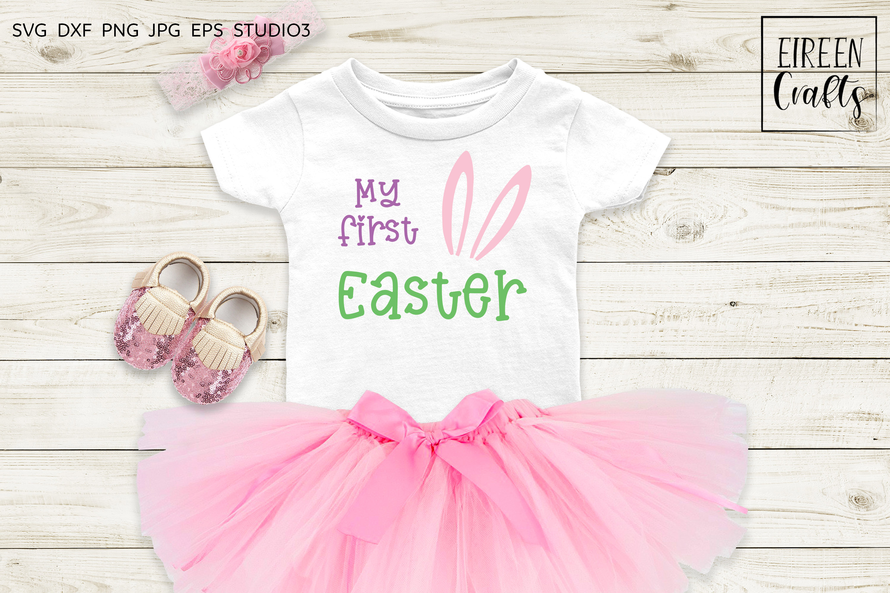 My first Easter SVG - cut file for Cricut & Silhouette example image 1