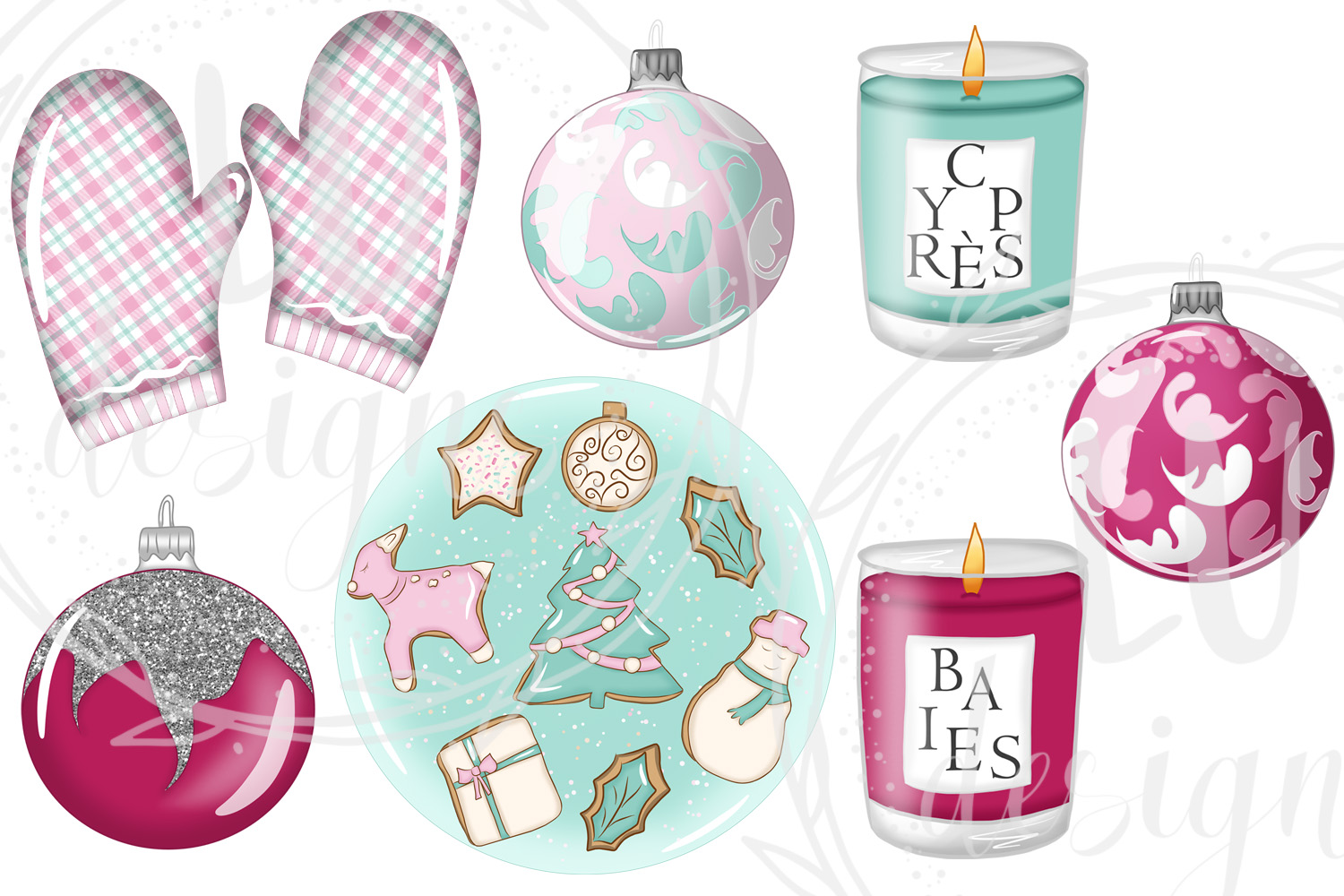Christmas Clipart, Holidays Graphics, Winter Clipart example image 5