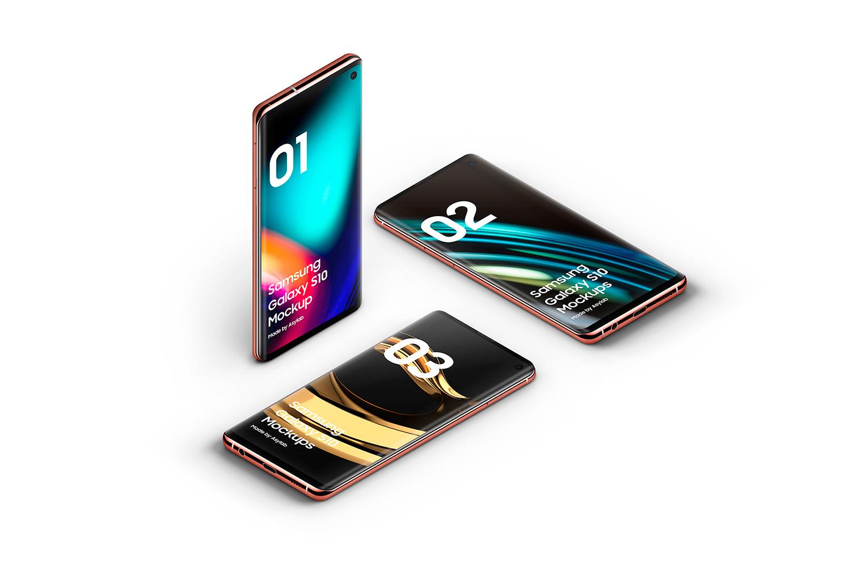 Samsung Galaxy S10 - 21 Mockups - 5K - PSD example image 29