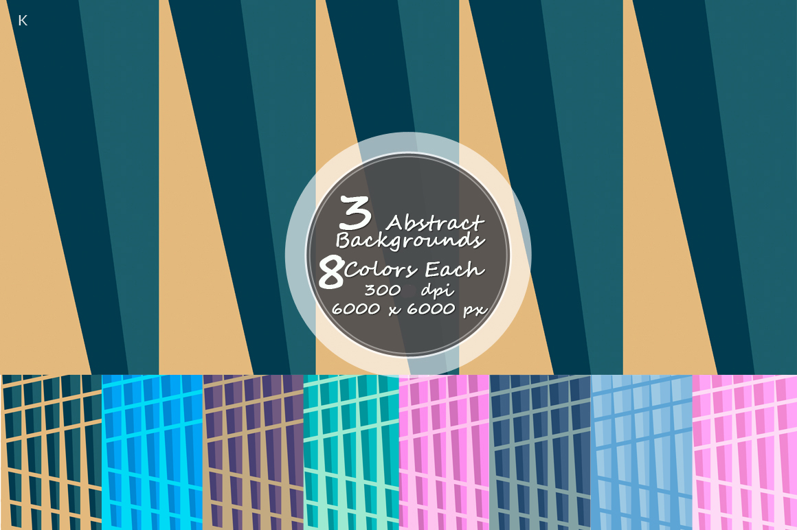 Pack of 3 Abstract Backgrounds example image 2