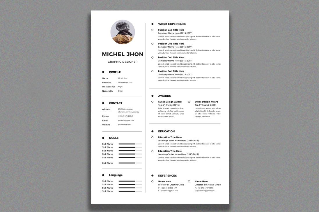 Resume example image 2