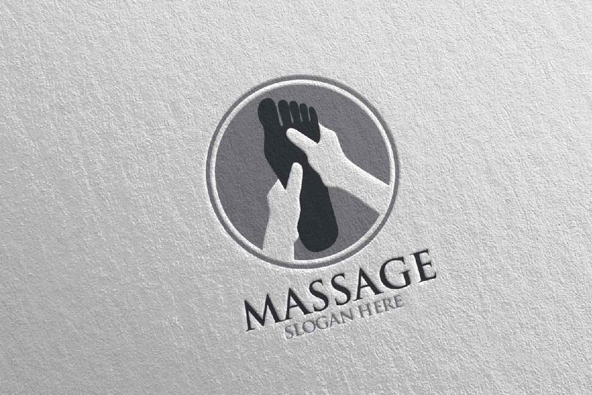 Massage Logo Design 5 example image 4