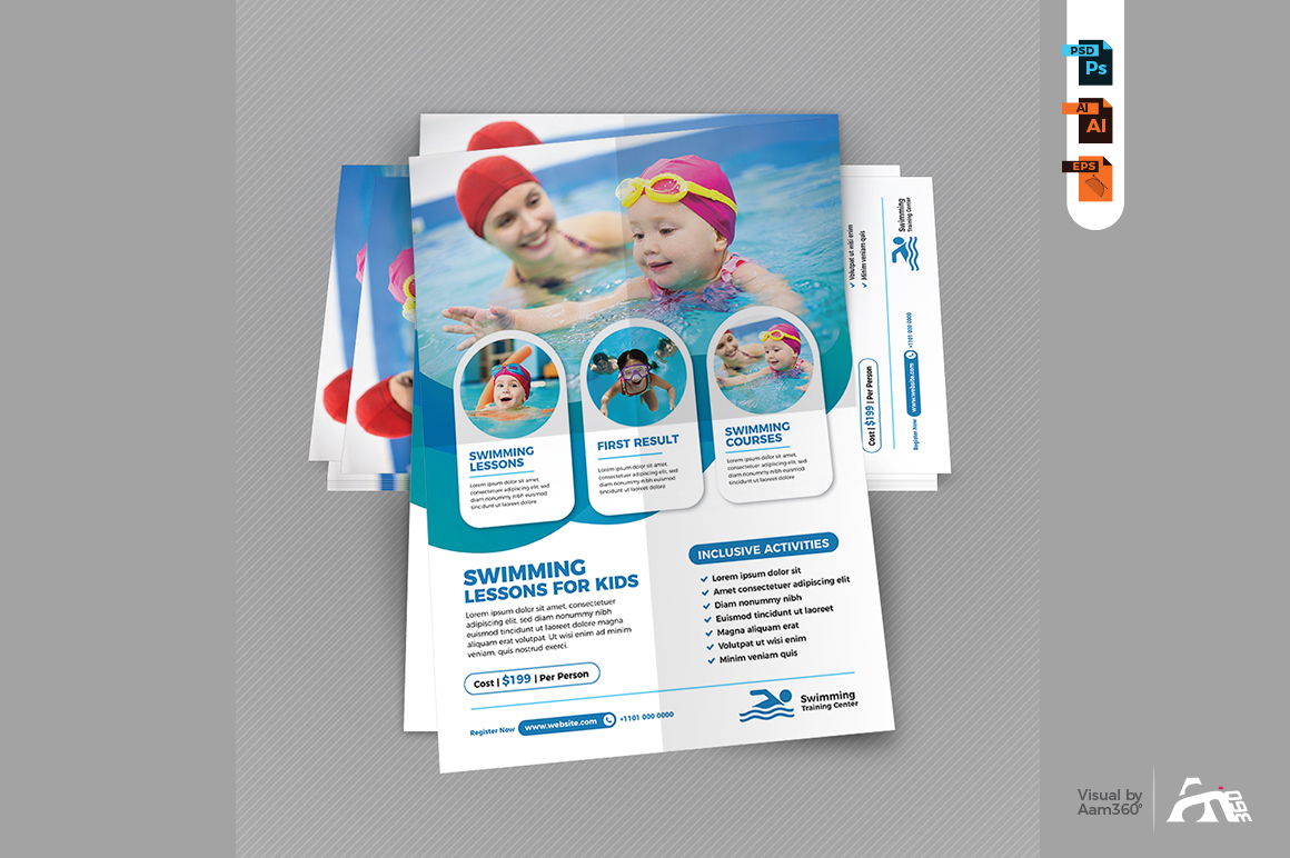 Swimming Lessons Flyer example image 4
