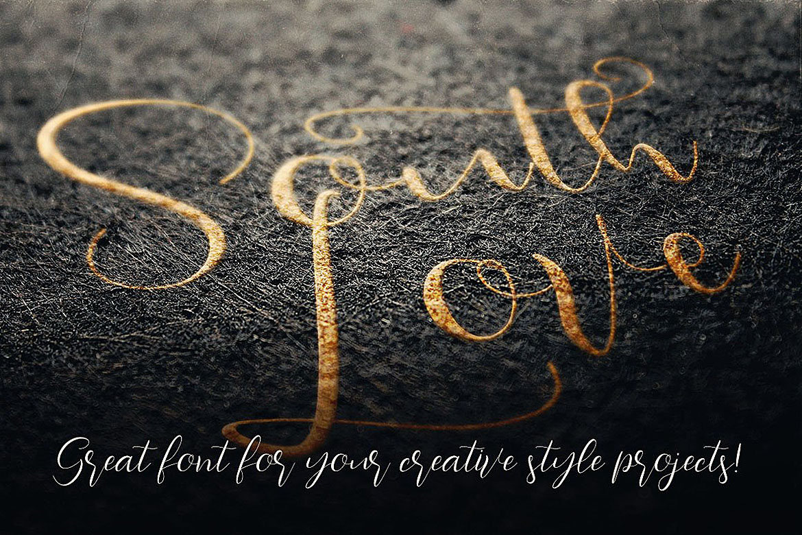 Southlove Script Font example image 4