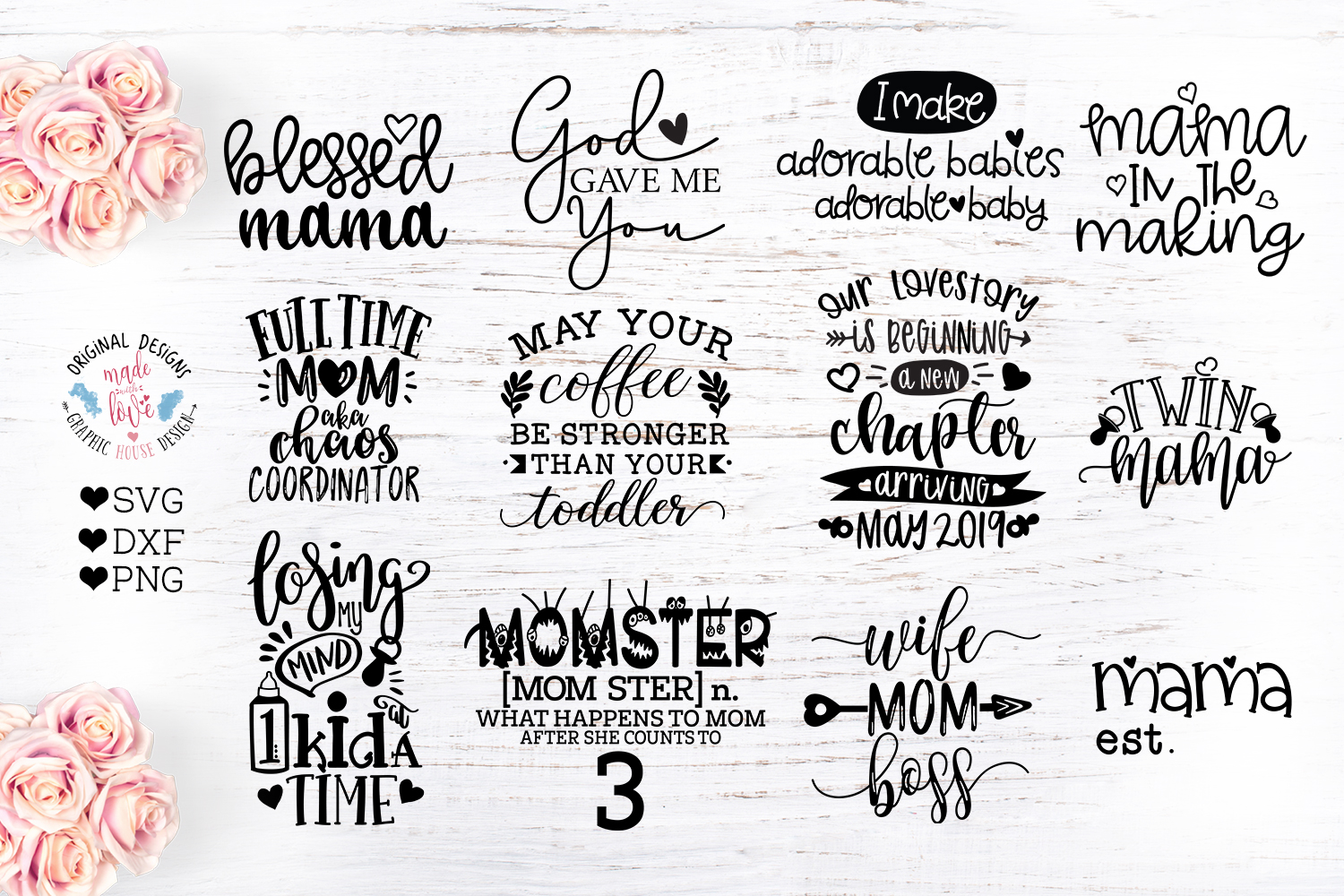 Mommy to Be Cut Files Bundle example image 1
