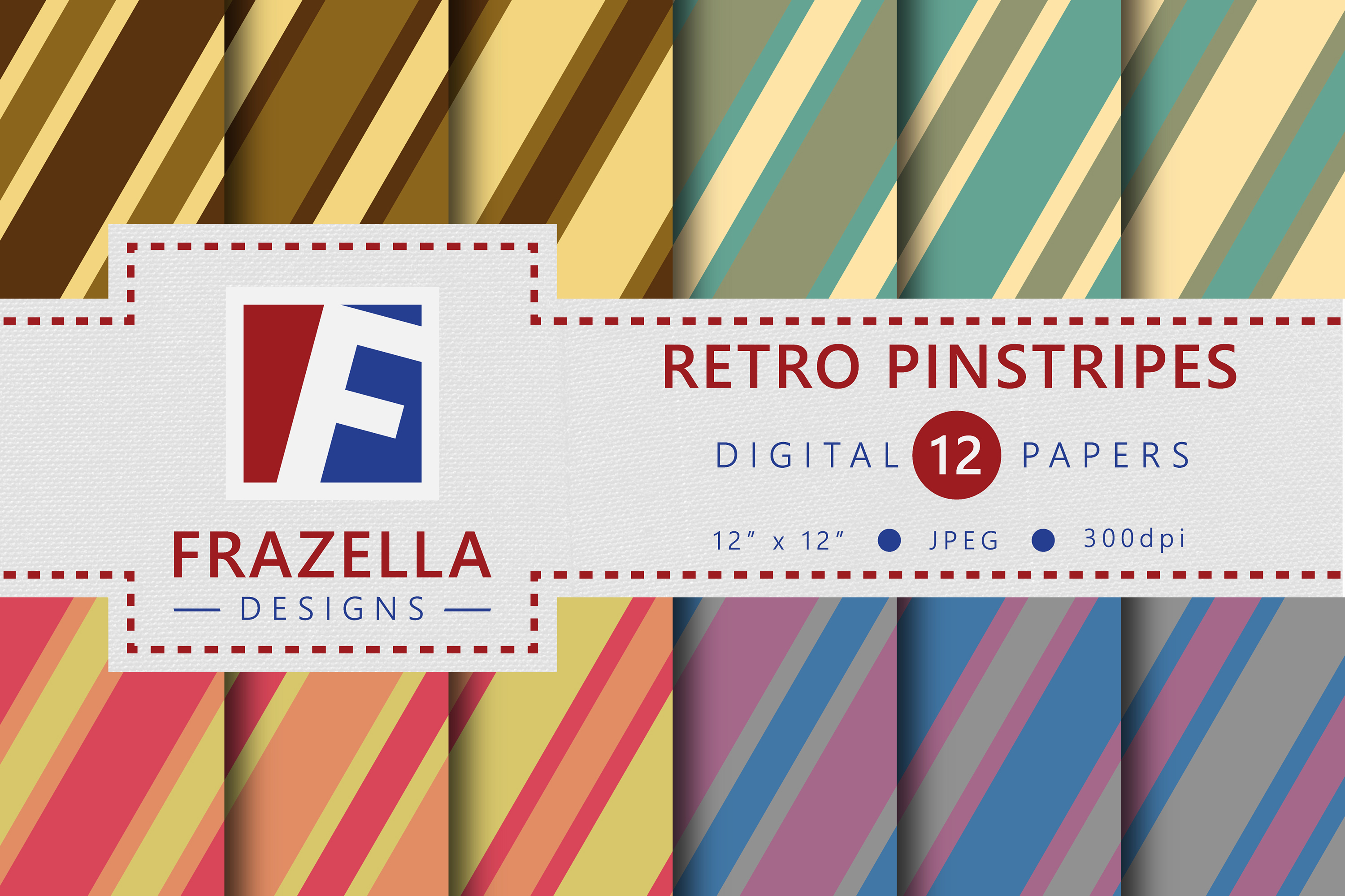 The ULTIMATE Digital Paper Collection Retro Edition Vol. 2. example image 9