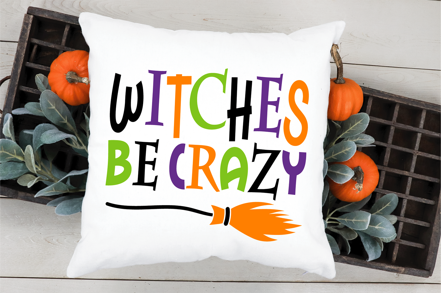 Witches be crazy SVG, Halloween cut file example image 4