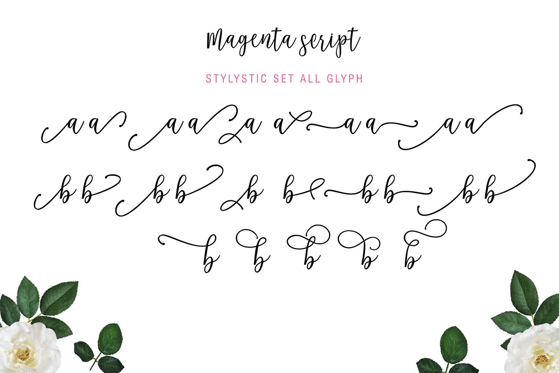 Magenta Script example image 8