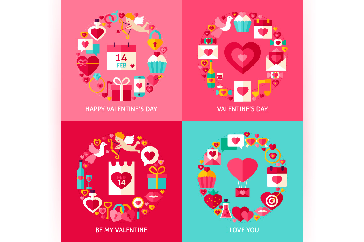 Valentines Day Vector Posters example image 6