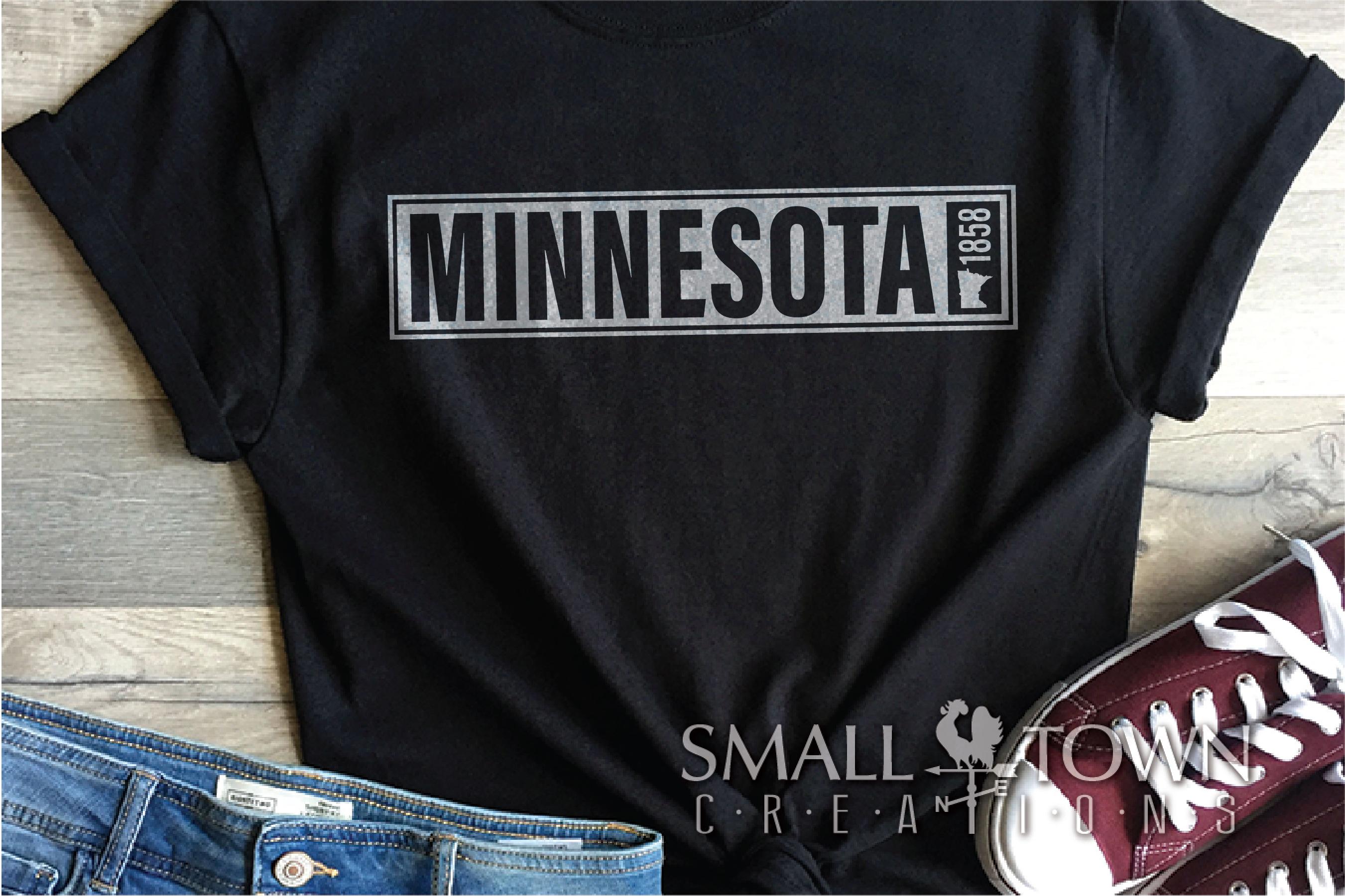 Minnesota, 10,000 Lakes - slogan, PRINT, CUT & DESIGN example image 6