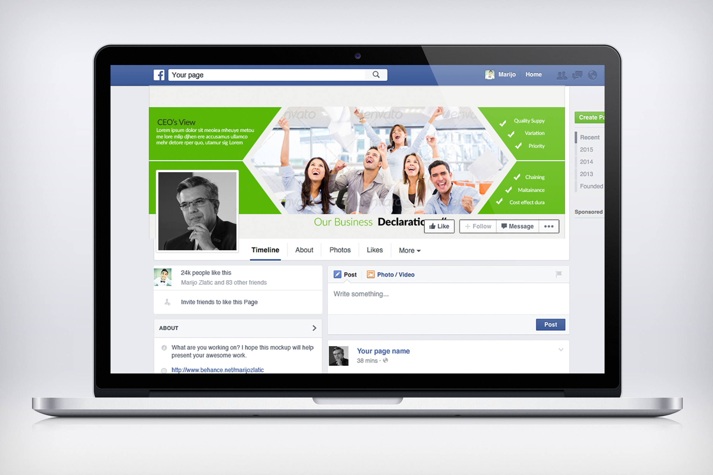 Business Facebook Timeline Cover example image 2