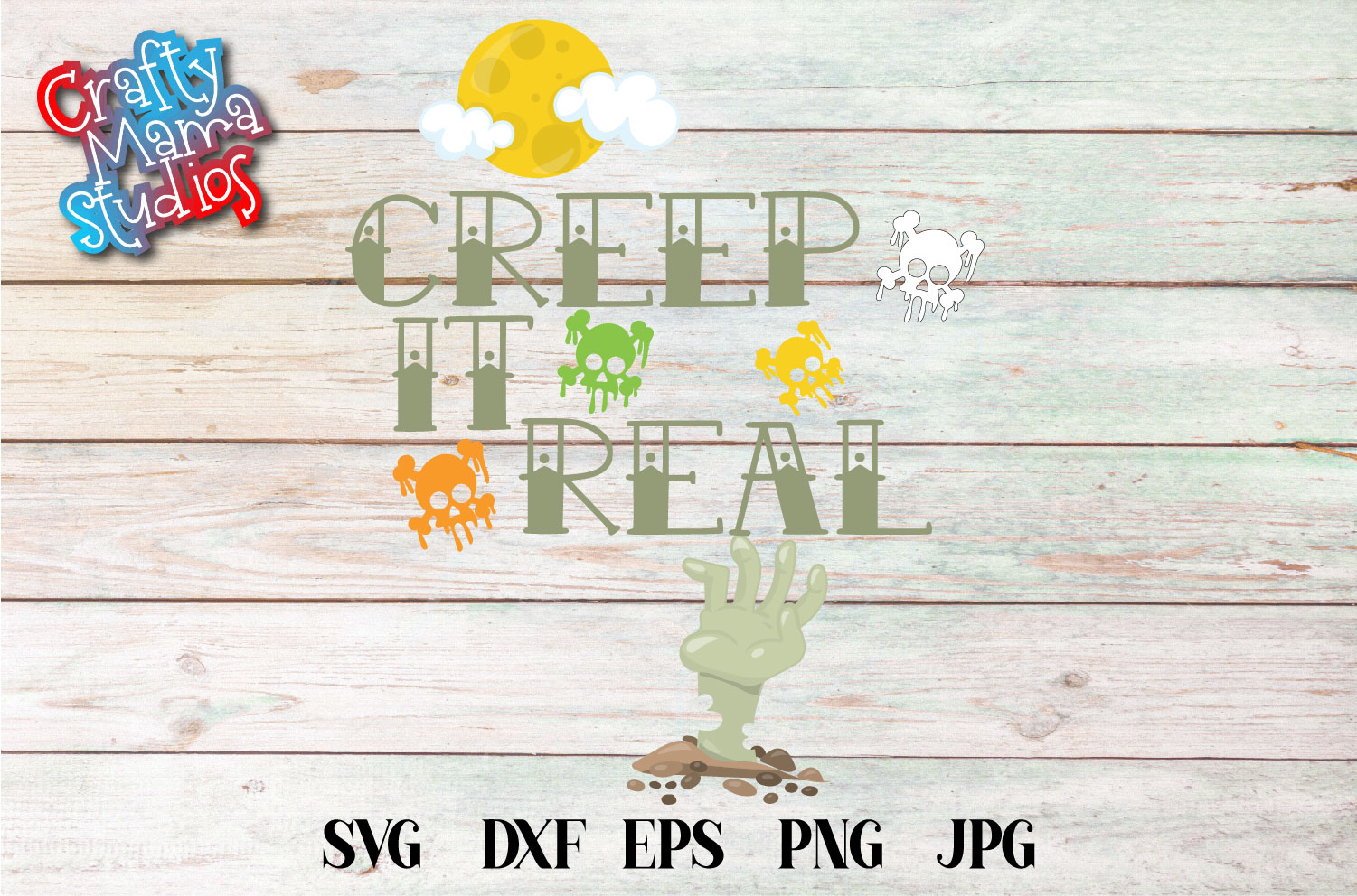 Creep It Real SVG Sublimation, Keeping It Real, Halloween example image 2