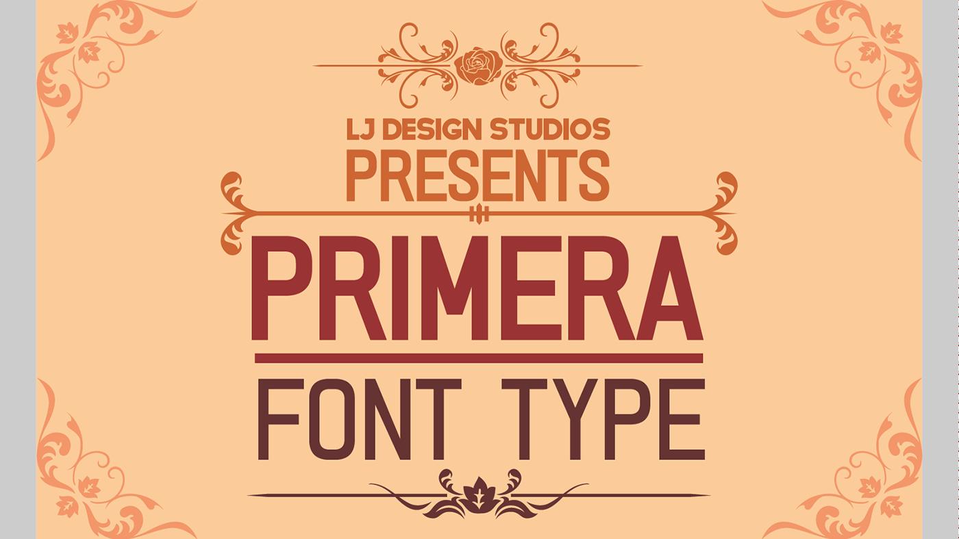 Primera Fontype example image 1