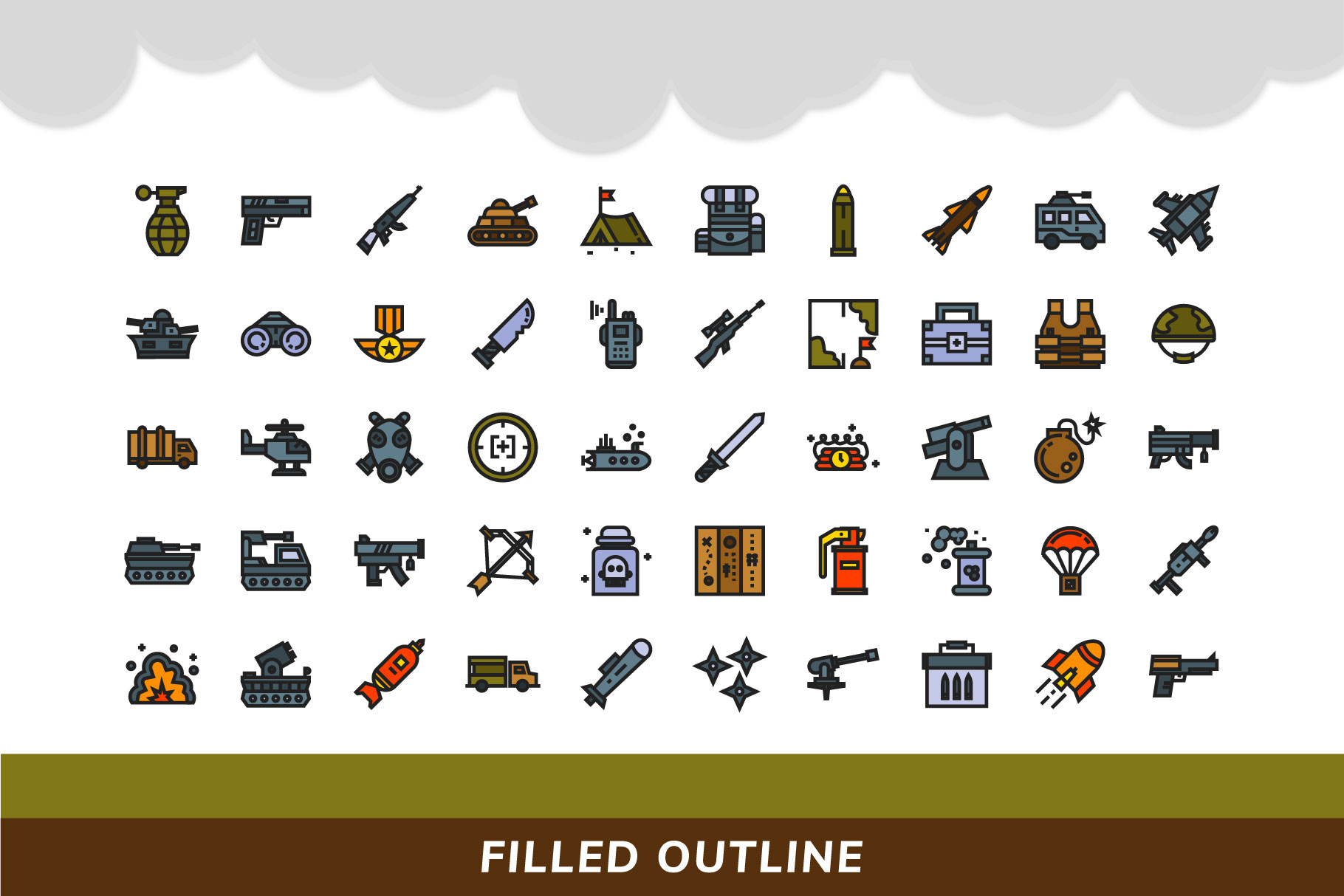 200 Military icon pack example image 5