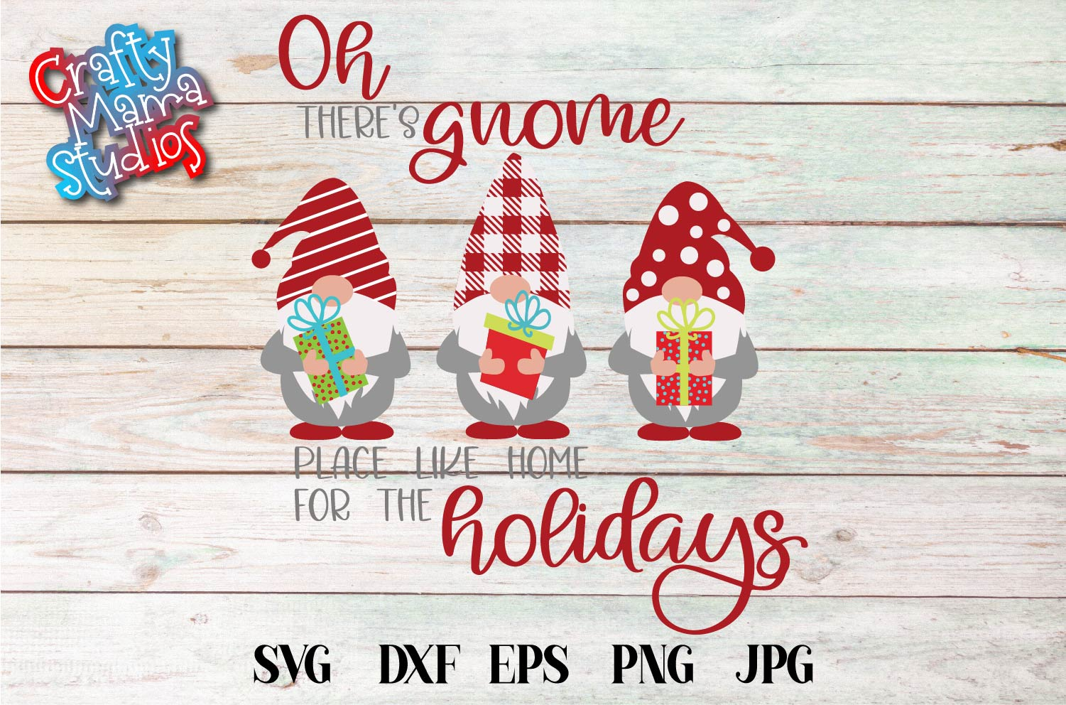Home For The Holidays SVG, Gnome Place Like Home SVG example image 2