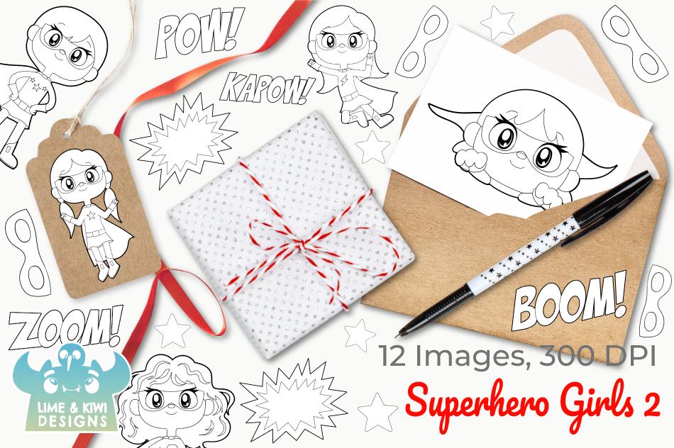 Superhero Girls 2 Digital Stamps example image 4
