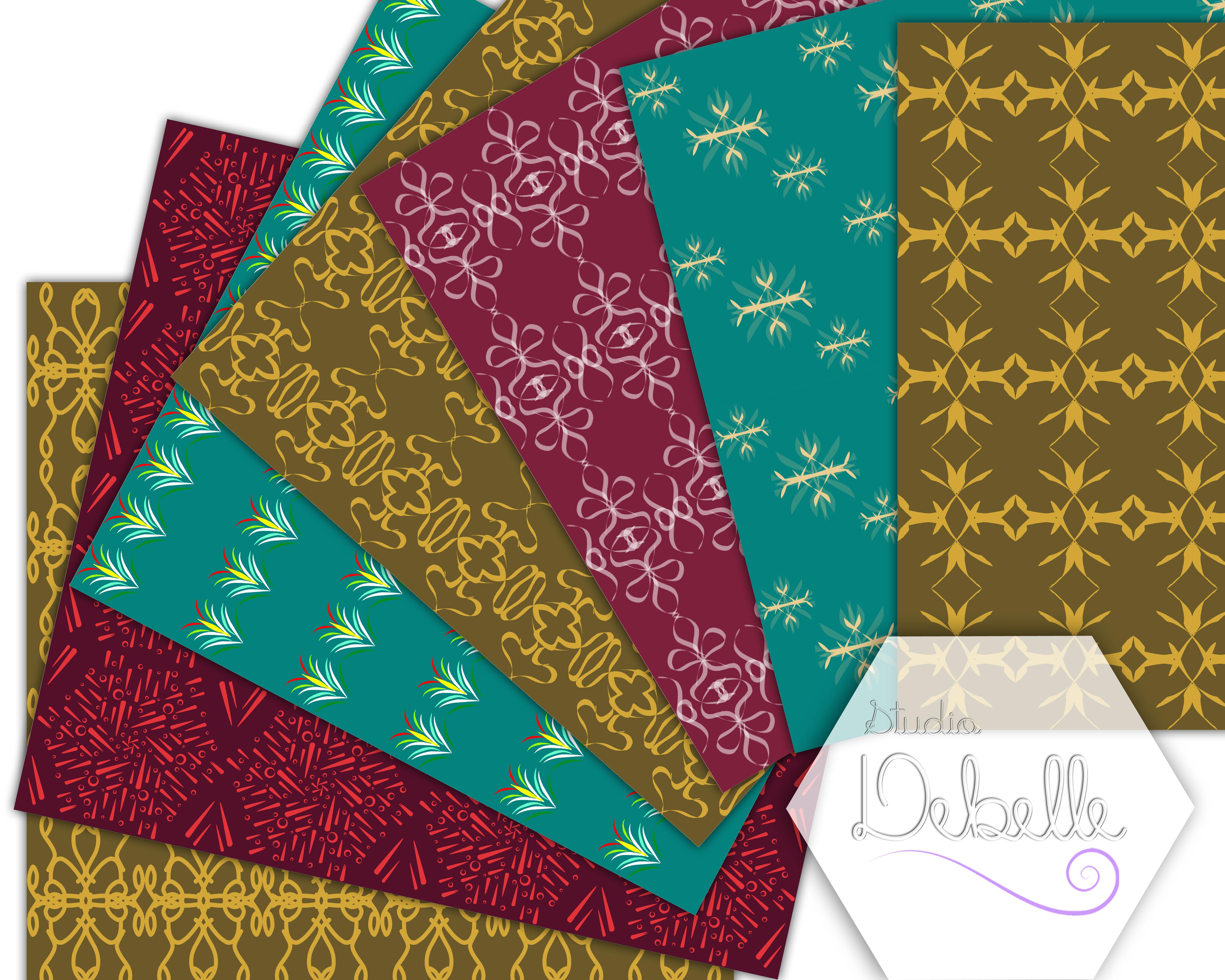 Elegant Patterns digital paper pack seamless pattern example image 2