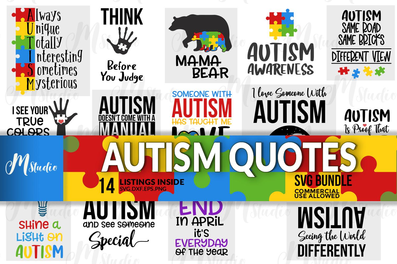 Autism Quotes svg bundle example image 1