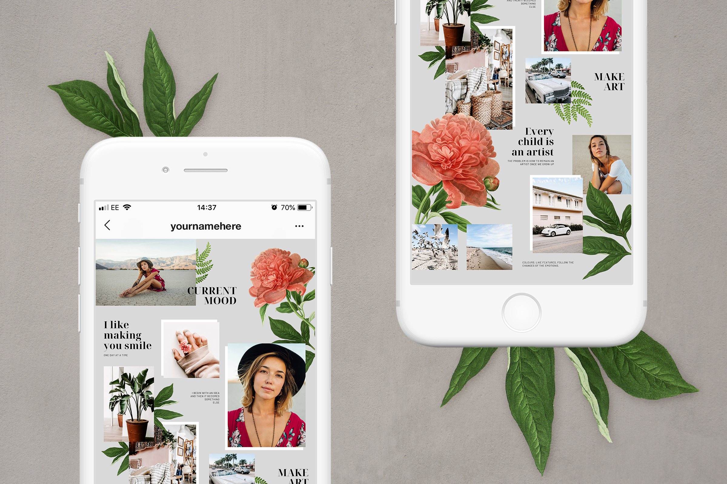 Instagram puzzle template for Canva example image 3