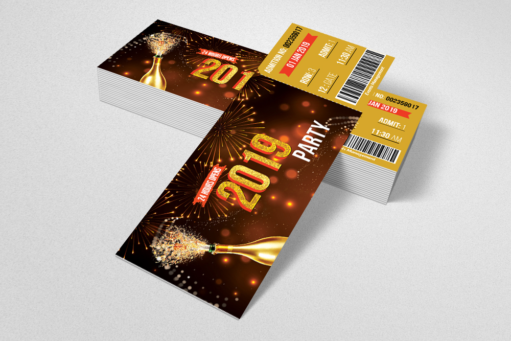 Happy New Year Party Ticket example image 3