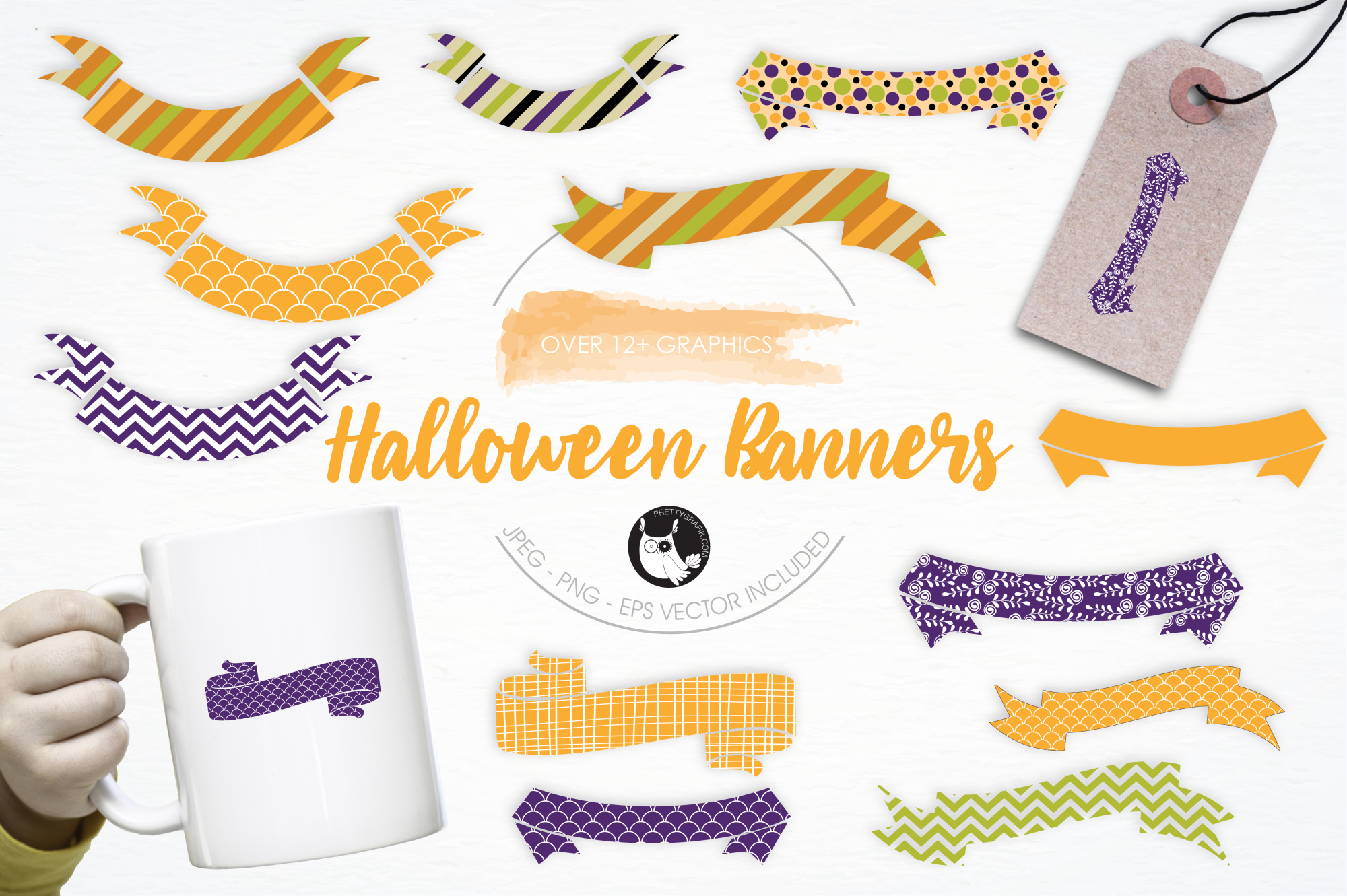 Halloween Banners graphics and illustrations example image 1