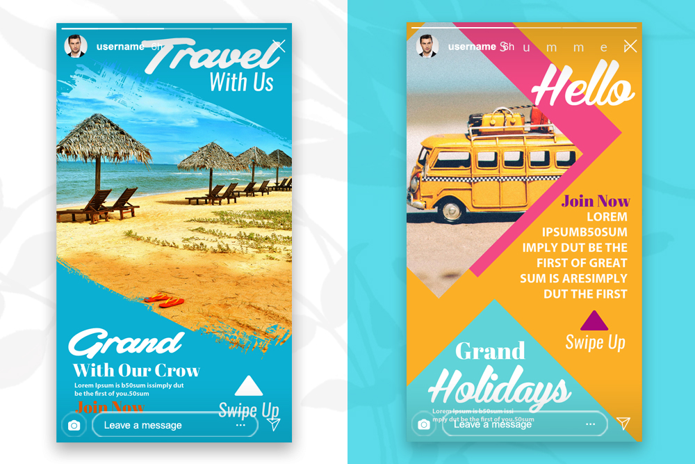 4 Instagram Stories Tour & Travel example image 3