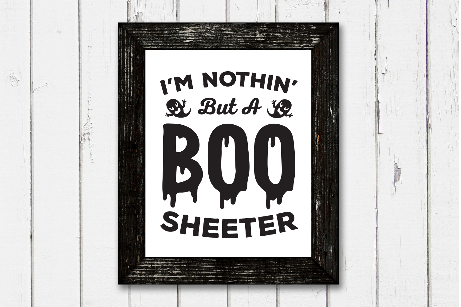 Halloween SVG, Boo Sheeter, SVG Cut file example image 6