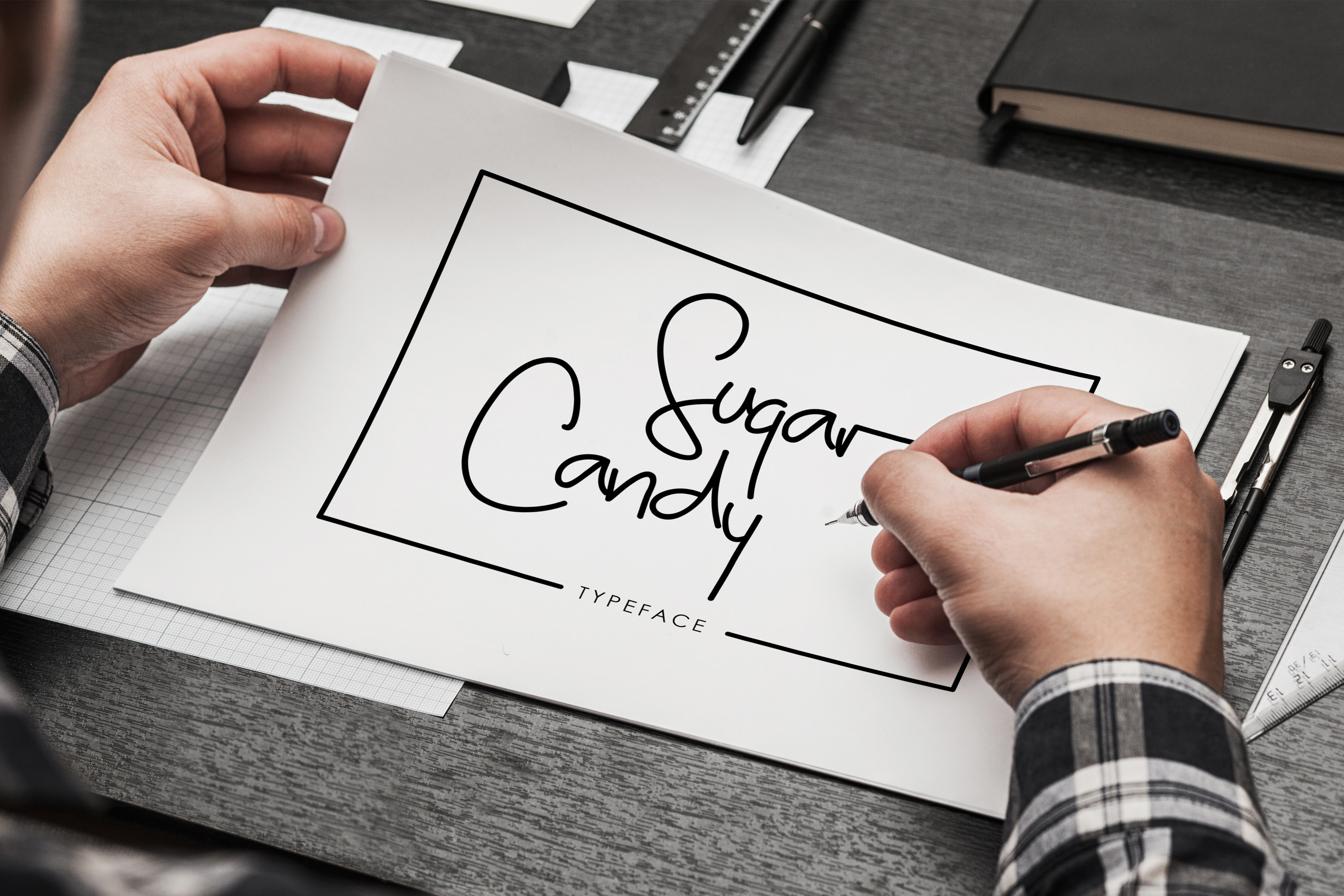 Sugar Candy signature typeface example image 1