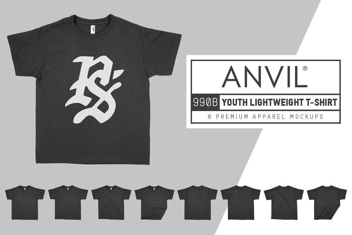 Anvil 990B Lightweight Youth T-Shirt example image 1
