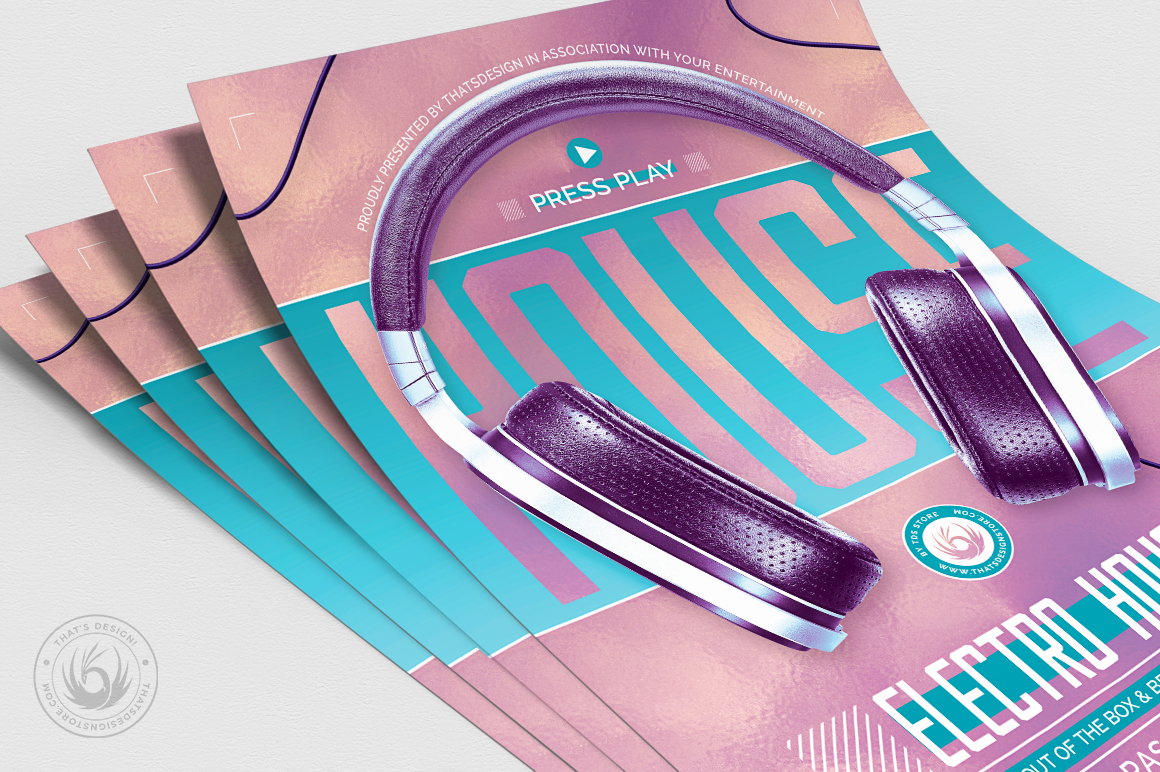 Special Dj Flyer Template V7 example image 5